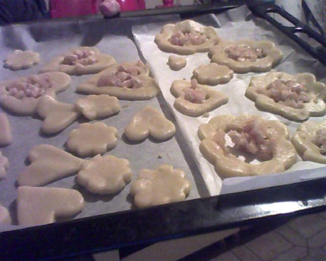 preparazione  biscotti a specchio