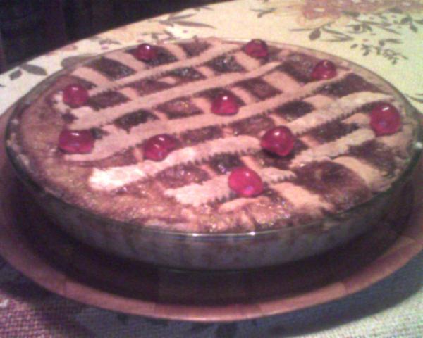 torta di grano con crema p.