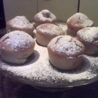 muffin alle mele con zucchero a velo