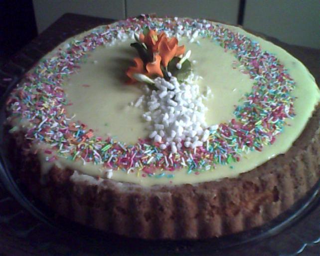 torta alla crema di vaniglia del compleanno di kiara