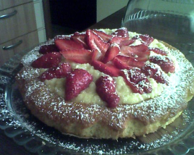 torta con ricotta e fragole