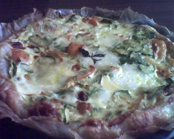 torta salata con zucchine e peperoni...